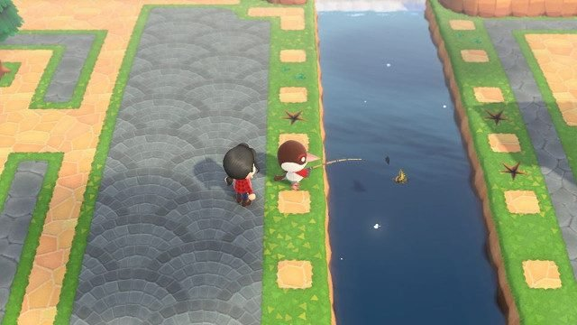 How to move rocks in Animal Crossing: New Horizons river fossils