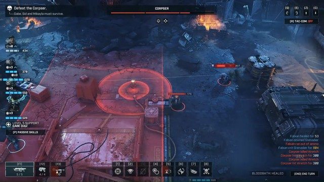 Gears Tactics Corpser Boss Fight Middle Attack