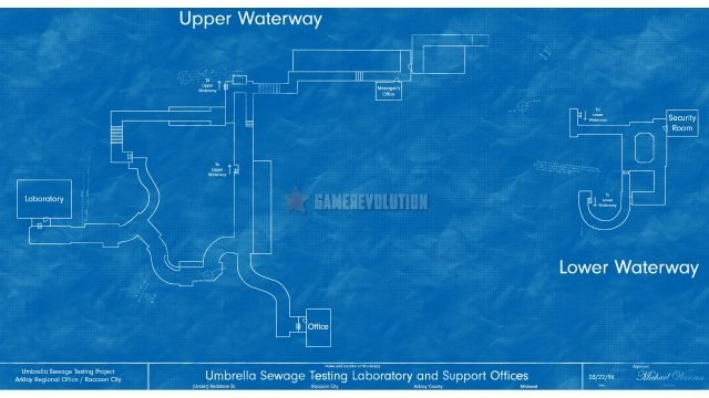 RE3 Remake Sewers Map