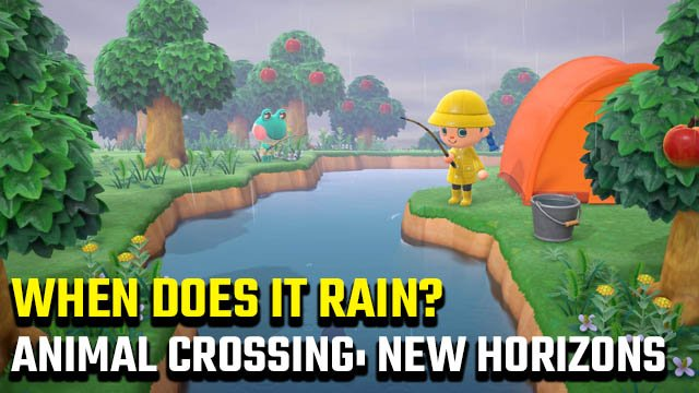 When does it rain in Animal Crossing: New Horizons?
