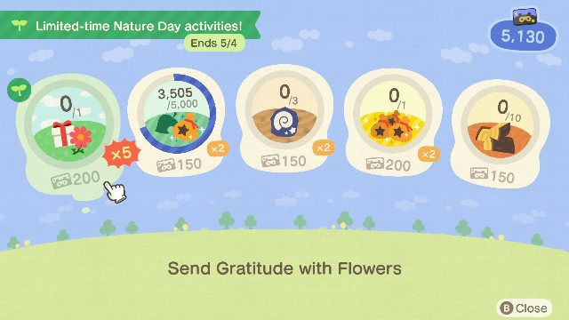 Animal Crossing Nature Day event NM
