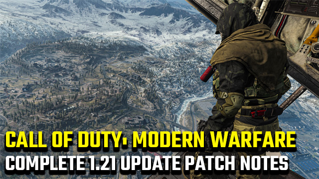 Call of Duty: Modern Warfare 1.21 update patch notes