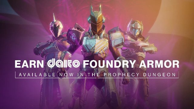 Destiny 2 new dungeon Prophecy Daito Foundry Armor
