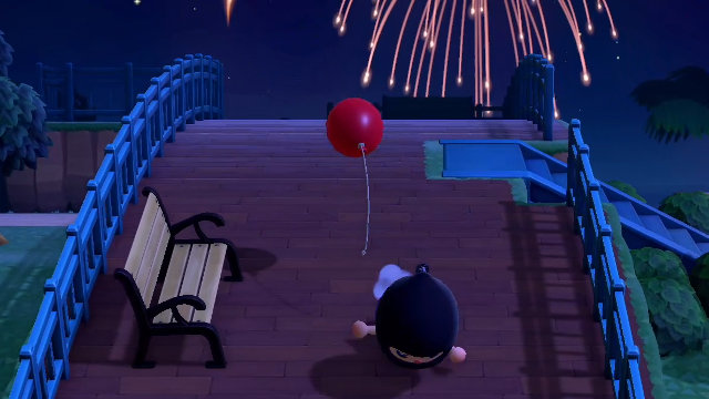 Animal Crossing: New Horizons balloons trip fall