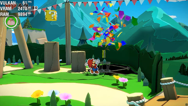 Paper Mario: The Origami King 60 FPS mod confetti