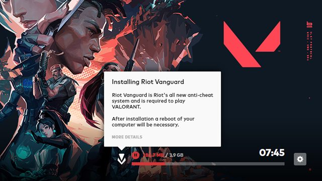valorant download install size GB - vanguard and game