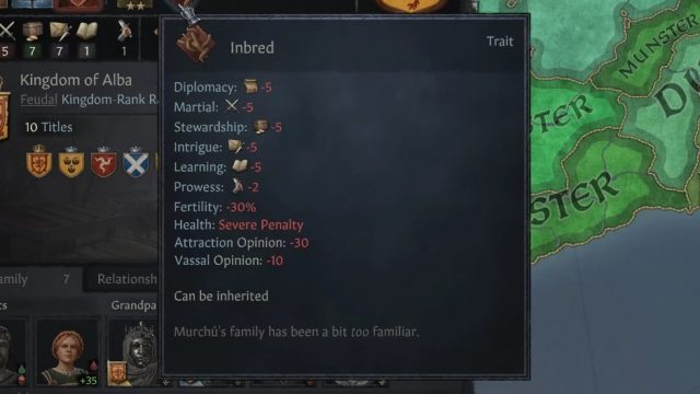 Crusader Kings 3 Inbred Trait