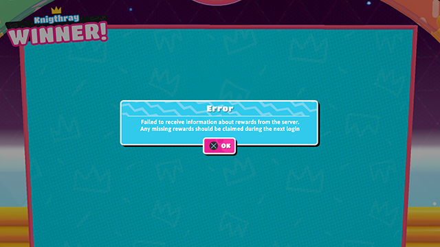 Fall Guys failed to receive information about rewards error fix