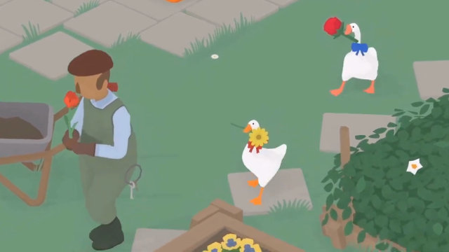Untitled Goose Game 2-player update flowers