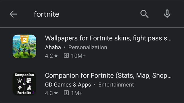 Fortnite has also been pulled off the Google Play Store