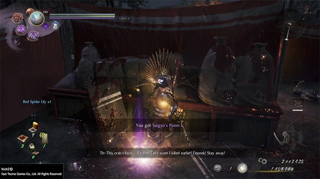 Nioh 2 The Tengu's Disciple DLC Saigyo's poetry card locations