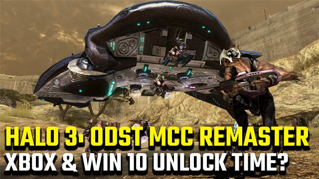 Halo 3 ODST PC unlock time Xbox One and Windows 10