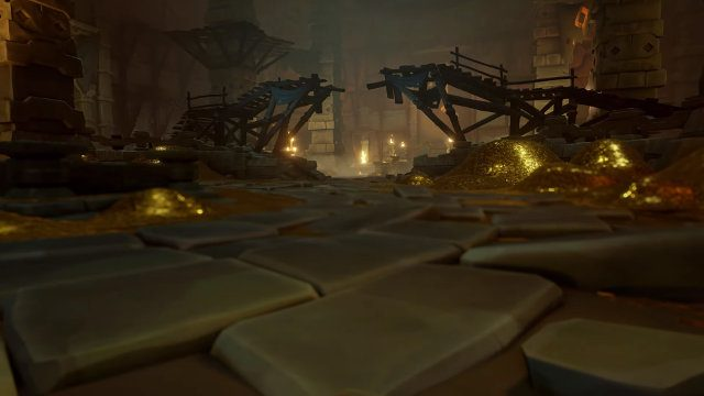 Sea of Thieves September update Vaults of the Ancients gold floor