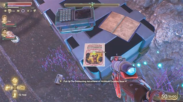 How to find the comic book clue locations in the Outer Worlds Peril on Gorgon DLC