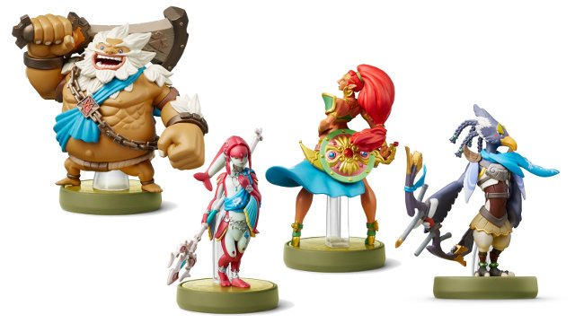 new Hyrule Warriors: Age of Calamity Amiibo four Champions
