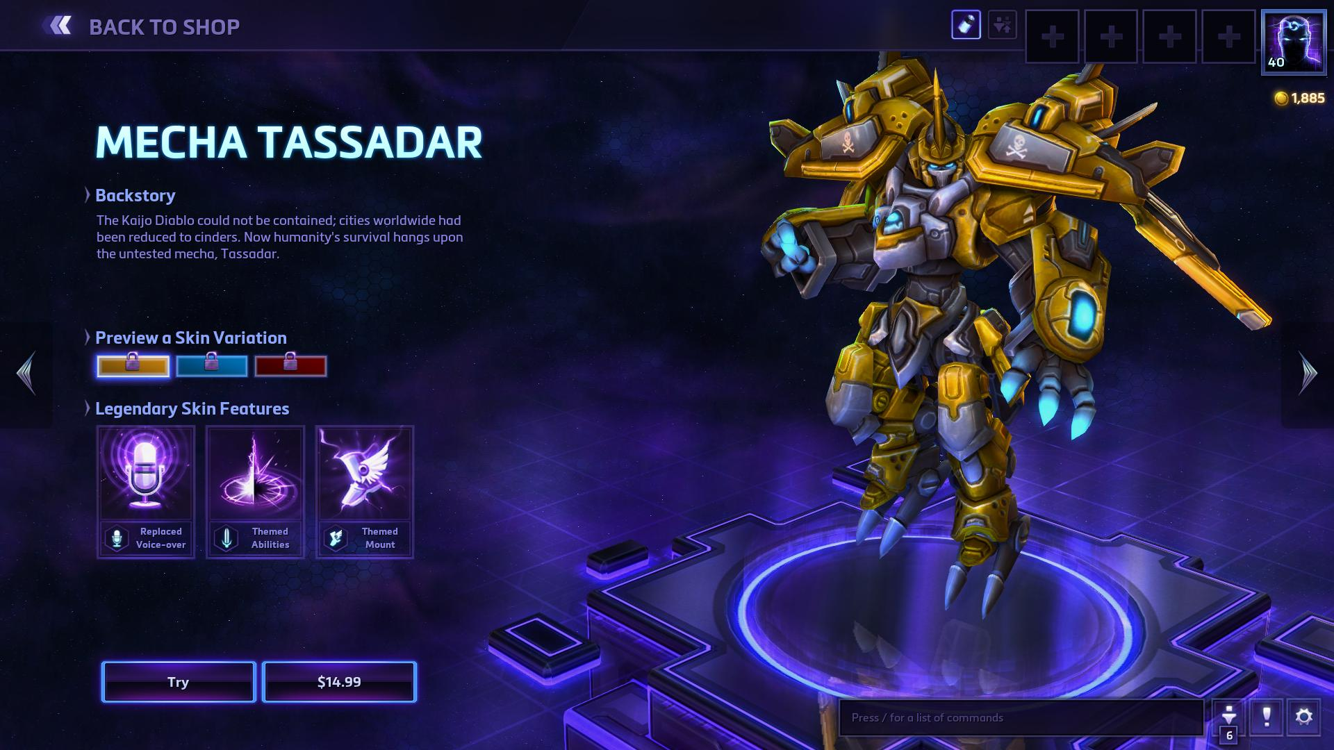 how to change skins heroes of the storm