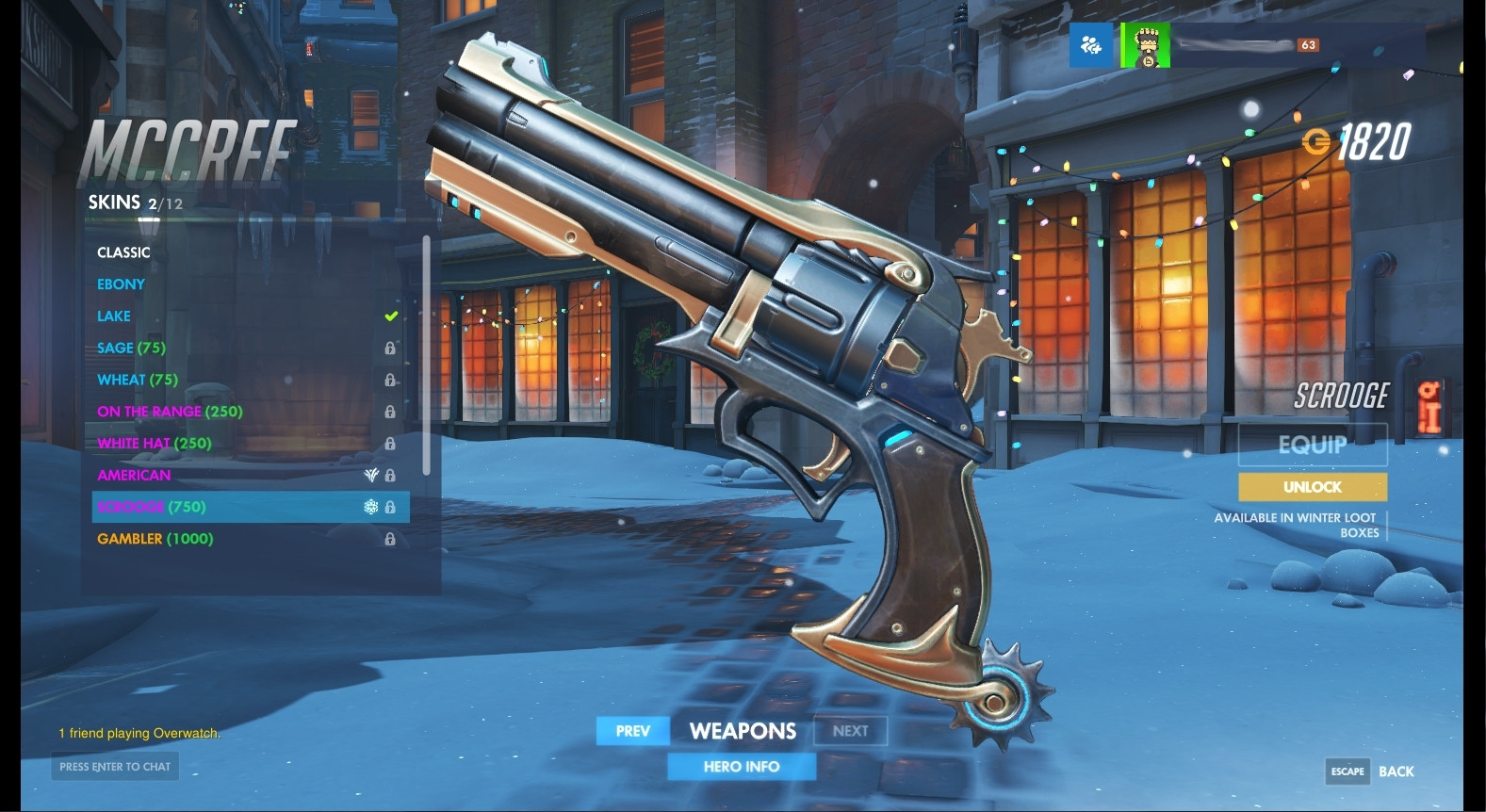 McCree (Scrooge) Weapon