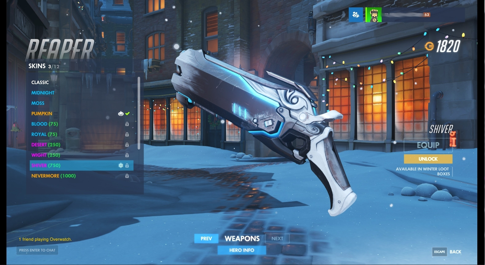 Reaper (Shiver) Weapon