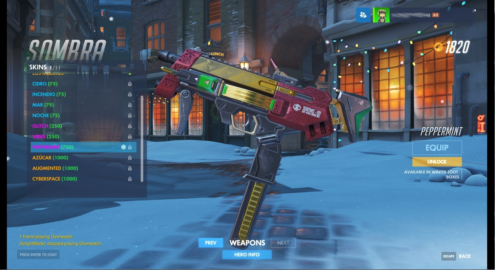 Sombra (Peppermint) Weapon